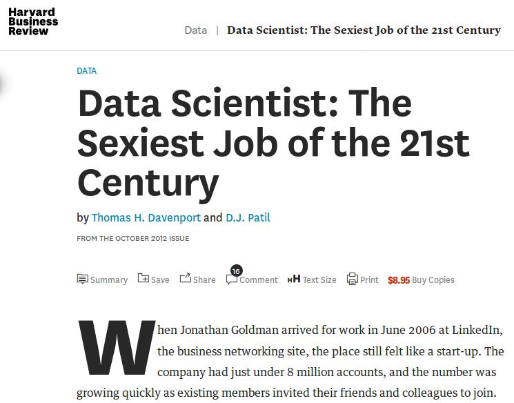Data scientist sebagai pekerjaan terseksi abad 21