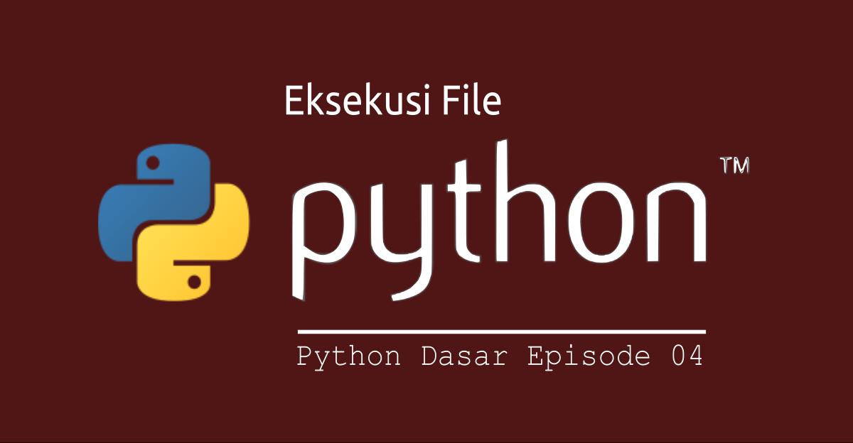 cara eksekusi file python