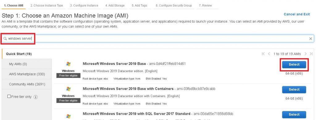 membuat EC2 AWS Windows Server