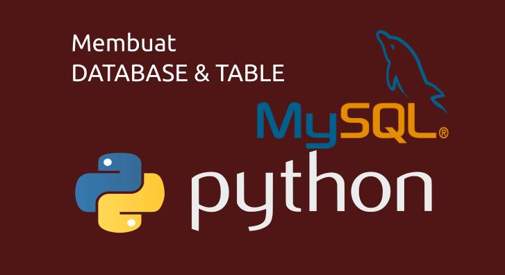 membuat database table mysql python