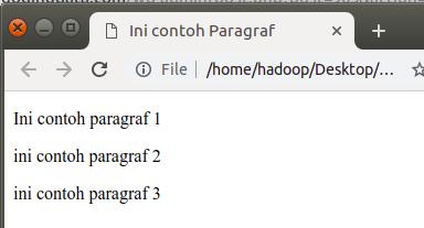 tutorial html dasar