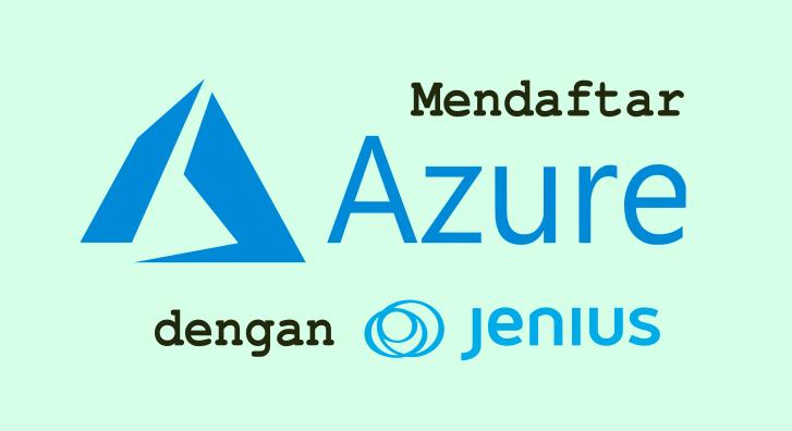 cara mendaftar azure dengan jenius